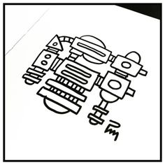 d00dl3_dr0n3_15201021 #drone #robot #mechanical #art #artwork #ink #brush #pentel #black #doodle #draw #drawing #illustration #illustrator #dessin #sketch #handmade #graphic #pm_art #pascalmabille