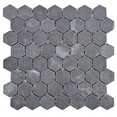 SomerTile 'Ridge Hexagon Black' 11.125x11.125-inch Stone Mosaic Tiles (Pack of 5)   Overstock.com Shopping - The Best Deals on Wall Tiles