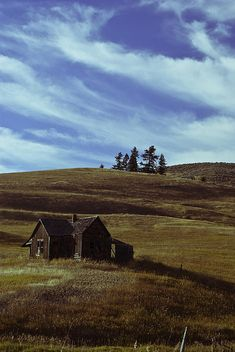 Little house on the prairie. The color looks better as it should on the Fine Art America main site.
