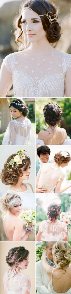 Effortless Beauty – 2014 Most Romantic Bridal Updos  #weddingdream123