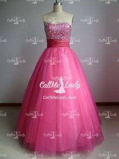 #Fuchsia #rhinestones long #quinceanera dress/ ball #gown #prom #dresses - #CallMeLady