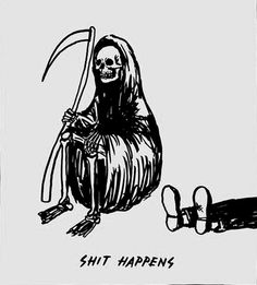Find images and videos about funny, lol and drawing on We Heart It - the app to get lost in what you love. Digital Foto, Reaper Tattoo, Psy Art, Skeleton Art, Arte Obscura, Art Brut, Grim Reaper, Death Reaper, Illustrations