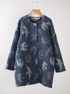 "Bobo Choses ""Birds"" Jacquard Coat"