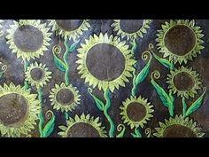 Gelli Print Sunflowers - #LoveFallArt