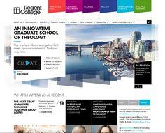 regent-college (Webneel Daily Graphics Inspiration 527) Layout Web, Website Layout, News Web Design, Creative Web Design, Clean Websites, College Image, College Website, Website Design Inspiration, Sliders