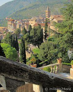 Blick von Villa d'Este auf Tivoli