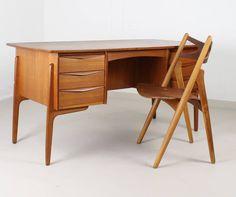 Danish Designers Svend Aage Madsen Teakwood Desk 4