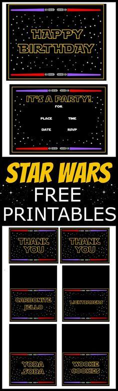 Star Wars Free Printables   CatchMyParty.com