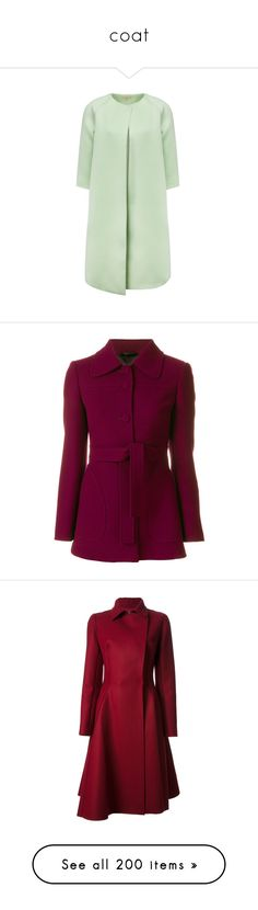 """coat"" by autumnhuynh ❤ liked on Polyvore featuring outerwear, jackets, blazers, coats, blazer, red, blazer jacket, red blazer jacket, purple jacket and purple blazer jacket"