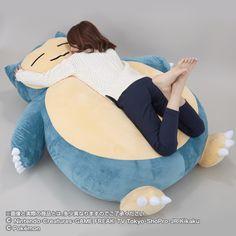 Disponible para reservar un cojín gigante de Snorlax en Japón