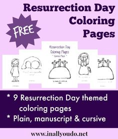 {free} Resurrection Day Coloring Pages - In All You Do