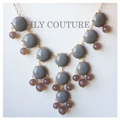 Taupe / Grey Bubble Statement Necklace by ilycouture on Etsy, $49.00