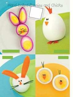 hard boiled chicks and bunnies....from Family Fun