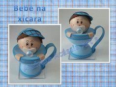 Lembrancinha para chá de bebê acompanha espiral porta recado.
