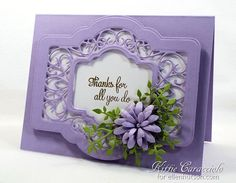 Thanks You Frame and Daisies by kittie747 - Cards and Paper Crafts at Splitcoaststampers