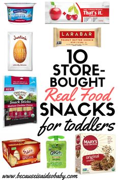 10 Store-Bought Real Food Snacks for Toddlers (And Adults) Baby Food Recipes, Gourmet Recipes, Snack Recipes, Healthy Recipes, Healthy Meals, Healthy Food, Food Baby, Baby Foods, Clean Eating Snacks