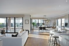 Live it up and feel like you've stepped into a swish Upper East Side apartment with the timeless sophistication and elegance of the Manhattan interior design style by Porter Davis Condo Living, Home And Living, Dream Home Design, House Design, Küchen Design, Interior Design, Open Plan Kitchen Living Room, House Extension Design, Hallway Designs
