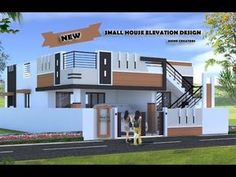 Kerala Model Villa Plan With Elevation 2061 Sq Feet . Home and Family Single Floor House Design, Small House Floor Plans, House Front Design, Cool House Designs, Independent House, Front Elevation Designs, House Elevation, Building Elevation, Beautiful Small Homes