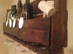 Handmade Rustic Wooden Wine Rack!!