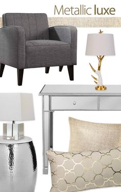 This fall, home decor enters a glamorous new golden age. But not just gold: cool silver, burnished copper and warm rose gold, too. And what we love about today's look is that it's more modern than mogul. And that's what it makes it both highly accessible and irresistibly easy.