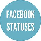 Top rated facebook statuses. Most popular facebook status updates,rated by our users. Make your vote count in the search for the most awesome facebook status.