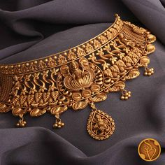 Gold Bangles Design, Gold Earrings Designs, Gold Jewellery Design, Necklace Designs, Gold Temple Jewellery, Gold Wedding Jewelry, Bridal Jewelry, Gold Jewelry, Gold Choker Necklace