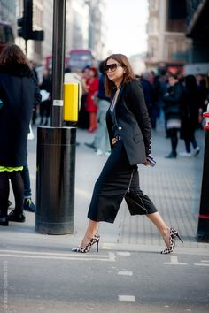 CC that suit is slammin with those heels. sooo happy to see you in London town. #ChristineCentenera #LFW #WayneTippetts