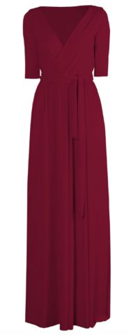 GORGEOUS COUTURE - The Daphne Maxi Oxblood - Hire £69
