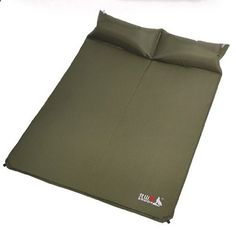 Camping Sleeping Pads - Pin it :-) Follow Us :-)) zCamping.com is your Camping Product Gallery ;) CLICK IMAGE TWICE for Pricing and Info :) SEE A LARGER SELECTION of camping sleeping pads at zcamping.com/... - hunting, camping, camping bed, camping gear, camping accessories - BSWolf Q3006-B Double Outdoor Automatic Blow-up Dampproof Sleeping Mat (Army green) « zCamping.com
