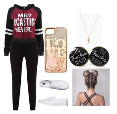 """""""Untitled #12"""" by maribeltheflower on Polyvore featuring WithChic, JunaRose, Vans and claire's"""