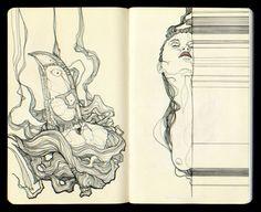 SKETCHBOOK #1 by Tavo Montañez, via Behance