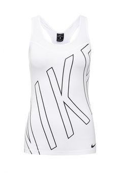 Майка спортивная Nike W NP HPRCL TANK EXPLODE LOGO Майка спортивная Nike. Цвет: белый.  Сезон: Осень-зима 2016/2017. Одежда, обувь и аксессуары/Женская одежда/Футболки и топы