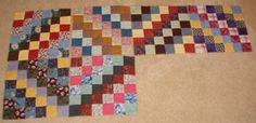 """Quiltville's Quips & Snips!!: Scrappy Trips!! Nice Tutorial showing how to make a Trip Around the World quilt from tubes made of 2.5"""" strips. Jelly Rolls, anyone?"""