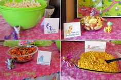 My Little Pony Party Food: go to www.thelilysage.com to see the whole party!