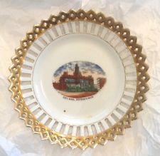 Vintage Gold Trimmed China - Souvenir Plate - Detroit
