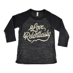 Love Relentlessly Unisex Baseball T - Black Marble / Black