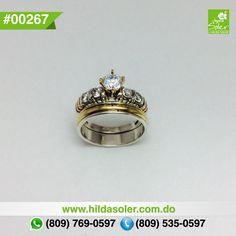 Anillos de bodas en plata y oro  RD $ 6,500 pesos  Grabado .... GRATIS !!!!