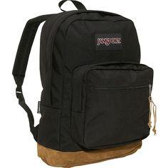 JanSport Right Pack Laptop Backpack ($49) ❤ liked on Polyvore featuring bags, backpacks, black, laptop backpacks, handle bag, suede bag, day pack backpack, jansport daypack and jansport backpack