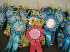 Gymnastics party gift bag...girls, boys, then the Birthday Girl!!