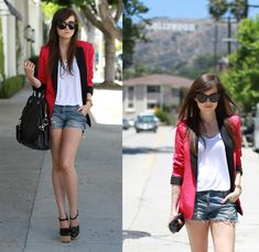 love this blazer but love it more that it's black and red