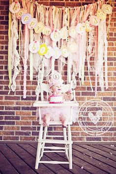 Cake smash, ribbon backdrop, kid birthday picture ideas, cake smash photography, first birthday ideas, first birthday photography