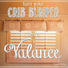 Vanessa Shaffer Designs Turn Your Crib Bumper Into A Window Valance