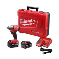 Milwaukee M18 Fuel 18-Volt Brushless Lithium-Ion 1/2 in. Impact Wrench XC Battery Kit-2655-22 - The Home Depot   $329.00