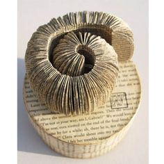 Book sculptures: Designer Phiona Richards creates these robust sculptures from old, fragile books.