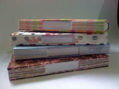 Caderno com costura aparente - Longstitch  Tamanho 21,0 x 15,0 Miolo: 65 folhas de sulfite branco 75grs
