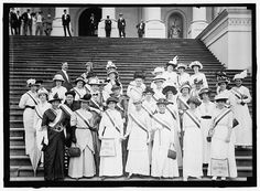 WOMAN SUFFRAGE. SUFFRAGETTES AT CAPITOL: 1914.