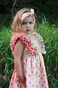 Laila Ruffle Dress Pdf Pattern sizes 6 to 10 by BobkinDesigns