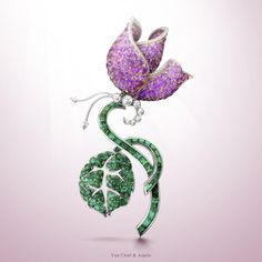 The name Van Cleef & Arpels is synonymous with gorgeous and exquisite jewelry. Van Cleef & Arpels has been creating wondrous jewelry creations since Van Cleef & Arpels̵… Van Cleef Arpels, Van Cleef And Arpels Jewelry, Gems Jewelry, High Jewelry, Anchor Jewelry, Purple Jewelry, Gemstone Brooch, Diamond Brooch, Pink And Gold