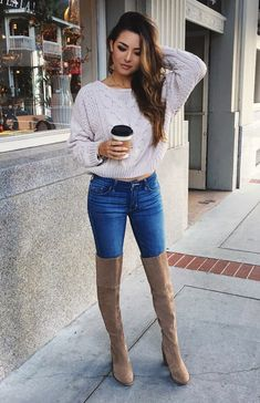 OTK BootsSweater by Free People , Jeans by Kitsch Couture , Boots by Vince Camuto Fashion Look by Jessica Ricks