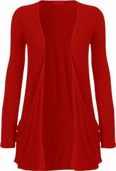 Womens Cardigan 2017 New Fashion Womens Casual Long Sleeve Pocket Cardigan Outwear Shirt Tops High Quality Brand New Hot Dec 14 Red Sweaters, Cardigans For Women, Coats For Women, Cardigan Long, Shrug Cardigan, Red Cardigan, Boyfriend Cardigan, Thing 1, Pulls